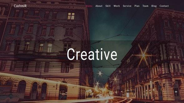 Cashmir- Multipurpose Creative Bootstrap Template - Creative Site Templates