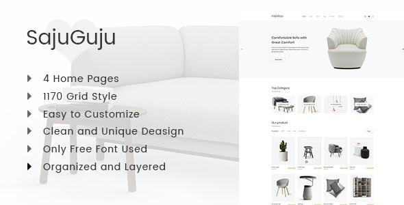 SajuGuju Minimal PSD  E-commerce Template - Shopping Retail