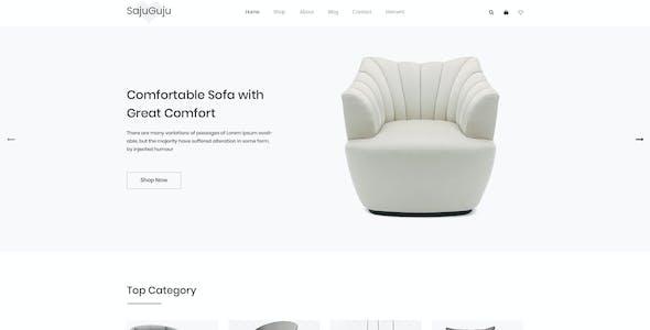 SajuGuju Minimal PSD  E-commerce Template