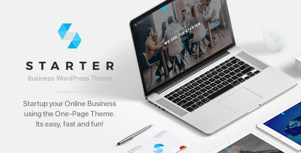 Starter   Business One-Page WordPress Theme - Creative WordPress