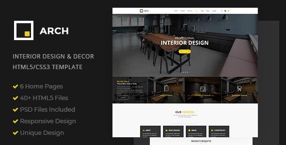 Arch - Interior Design and Decor HTML5 Template - Portfolio Creative