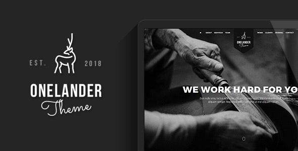 OneLander | Creative Landing Page WordPress Theme - Creative WordPress