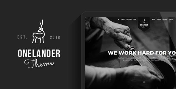 OneLander | Creative Landing Page WordPress Theme