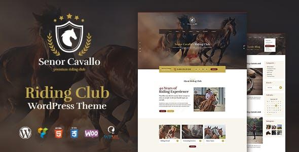 Download Senor Cavallo - Horse Riding Club, Stables & Equestrian Sport WordPress Theme