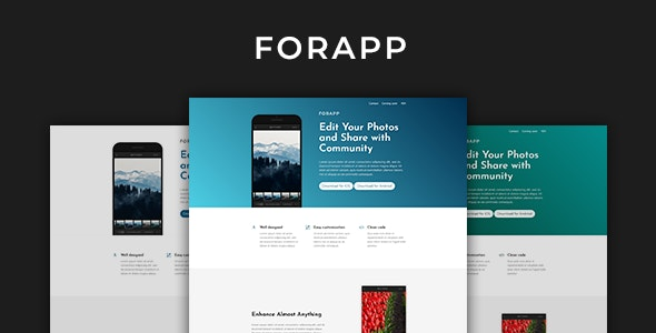 Forapp - App Landing Page Template - Software Technology
