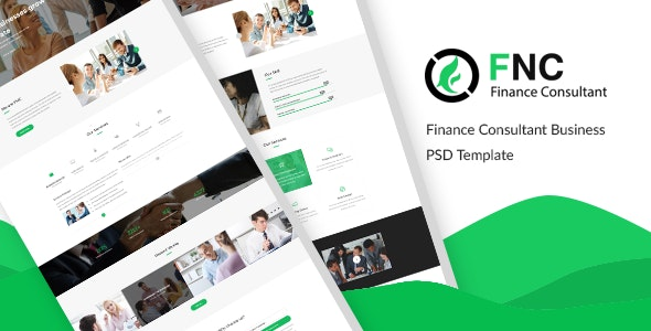 FNC - Finance & Consulting, Accounting PSD Template - Corporate Photoshop