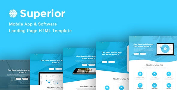 Superior -- App Multiple Landing Pages - Creative Site Templates