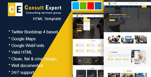 Consult Experts - Business Consulting and Professional Services HTML Template - Business Corporate