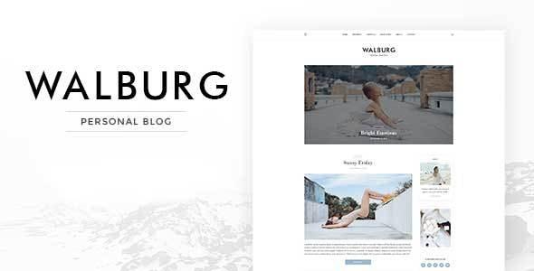 Walburg | WordPress Personal Blog Theme - Personal Blog / Magazine