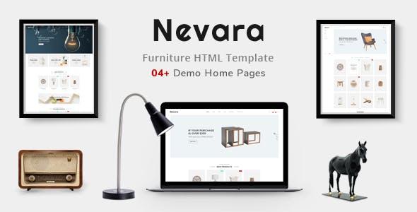 Nevara - Minimal Furniture & Interior Shop eCommerce HTML Template