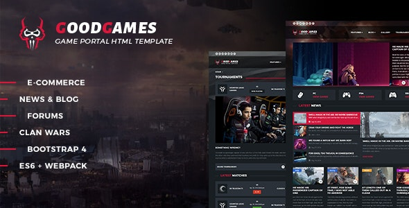 Good Games - Portal / Store HTML Gaming Template - Technology Site Templates