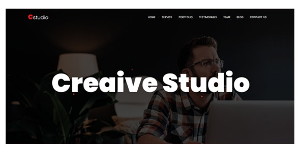 CStudio - One Page Creative parallax Template - Creative Site Templates