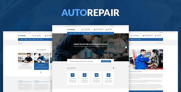 AutoRepair – Car Mechanic – HTML5 Template - Corporate Site Templates