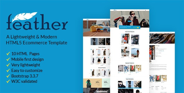 FEATHER – A Lightweight & Modern Ecommerce Template - Shopping Retail