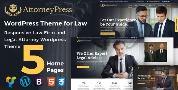 Attorney Press - Lawyer WordPress Theme - Business Corporate