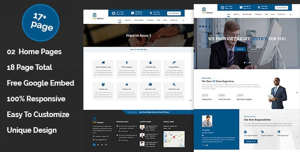 ImLawyer - Law Firm, Law Agency, Lawyer, Attorneys HTML5 Responsive Template - Corporate Site Templates