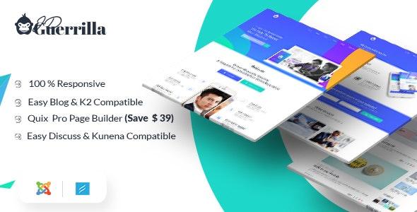JD Guerrilla - Digital Marketing Agency Joomla 3.9 Template - Joomla CMS Themes