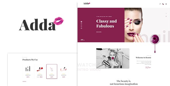 Adda - Blog & Fashion WordPress Theme