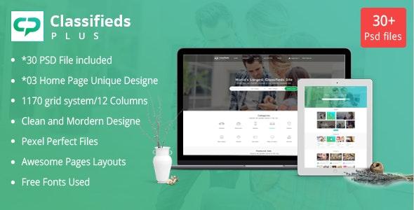 Classified Plus - Classifieds Websites PSD Templates - Corporate Photoshop