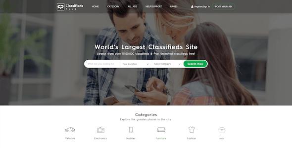 Classified Plus - Classifieds Websites PSD Templates
