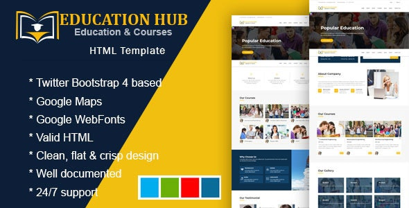 Inspire - Education Learning Theme For Education Courses School HTML - Corporate Site Templates