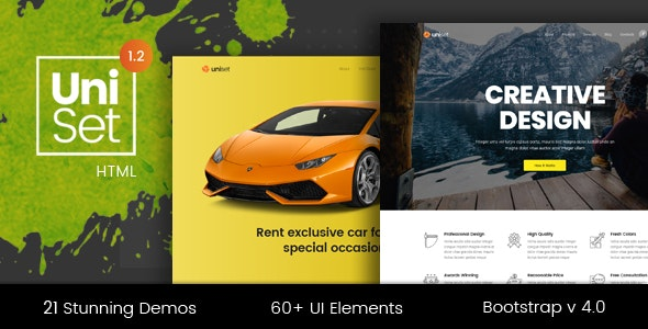 UniSet - Premium Multi-Concept Landing Pages Pack - Landing Pages Marketing