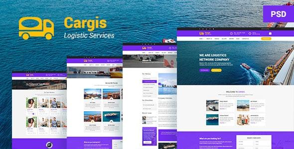 Cargo - Freight, Logistics & Transportation PSD Template - Business Corporate