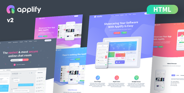 Applify - App Landing Page HTML - Software Technology