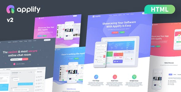 Applify - App Landing Page HTML
