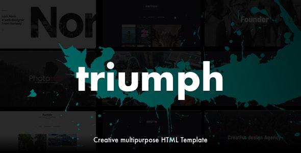 Triumph - Creative Multipurpose One Page HTML Template - Portfolio Creative
