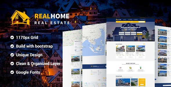 RealHome - Real Estate Business PSD Template - Business Corporate