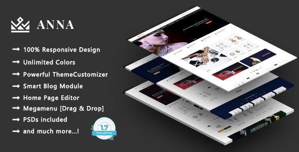 Anna - Handcrafted Jewelry Responsive PrestaShop 1.7 Theme - Health & Beauty PrestaShop