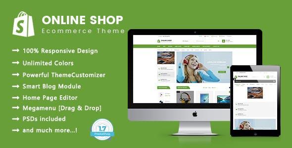 Online Shop - Electronics & Digital Responsive PrestaShop 1.7 Theme