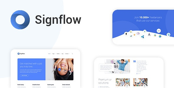 Signflow - Tech And Startup Template - Business Corporate