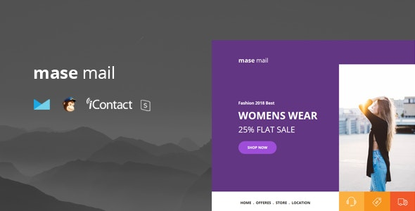 Mase Mail - Responsive E-mail Template + Online Access - Email Templates Marketing