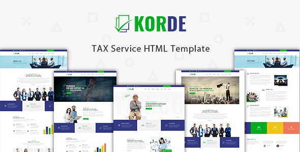 Korde - Finance & Tax Consultancy HTML Template - Business Corporate