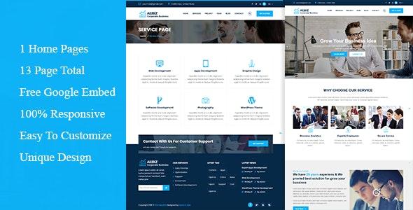 allbiz - Corporate & Business Responsive Template - Corporate Site Templates