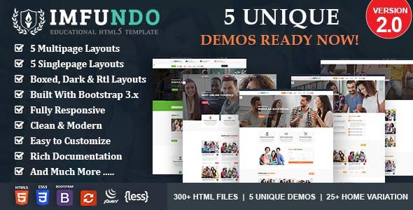 Imfundo - Education Course HTML