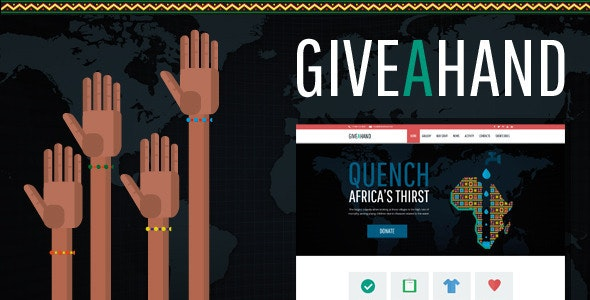 GiveAHand - Charity Responsive WP Theme - Charity Nonprofit
