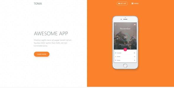 Tonix   Responsive App Landing Page