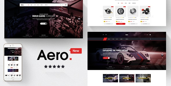 Aero Auto Parts Car Accessories Shopify Theme By Masstechnologist
