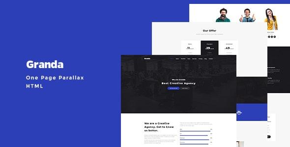 Granda - One Page Parallax - Creative Site Templates