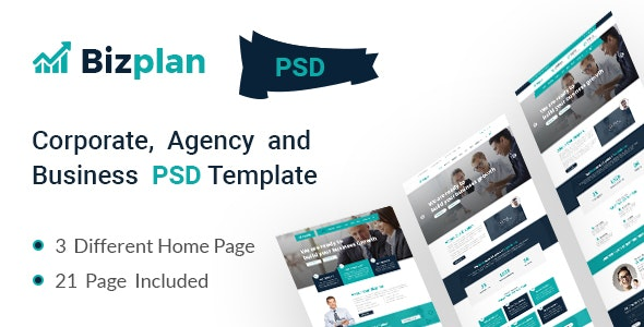 Corporate and Business Agency Template - Corporate Photoshop