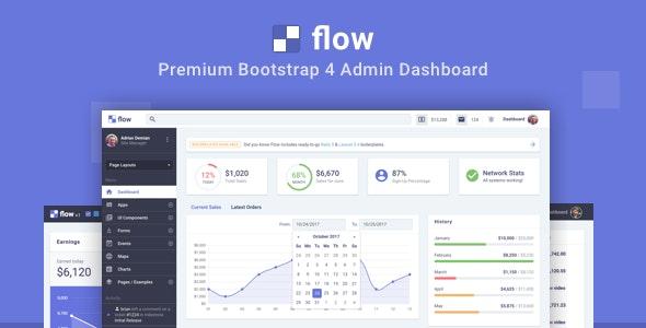 Flow Pro - Bootstrap 4 Admin Dashboard - Admin Templates Site Templates