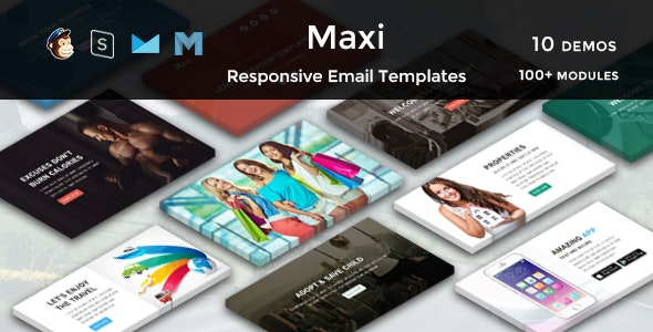Maxi - Multipurpose Responsive Email Templates - Newsletters Email Templates