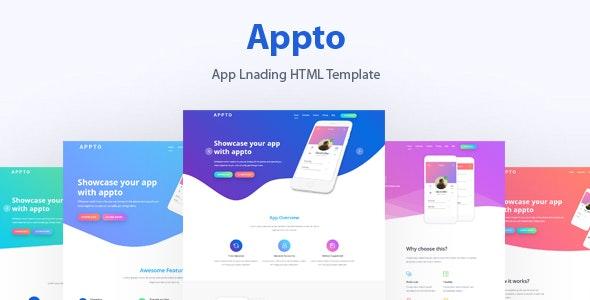 App Landing Template - Marketing Corporate