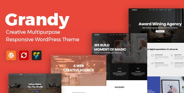 Grandy - Creative MultiPurpose WordPress Theme - Creative WordPress