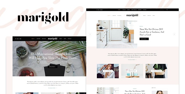 Marigold - A WordPress Blog & Shop Theme - Personal Blog / Magazine