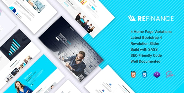 Refinance – Finance, Tax, Consulting HTML5 Template - Business Corporate