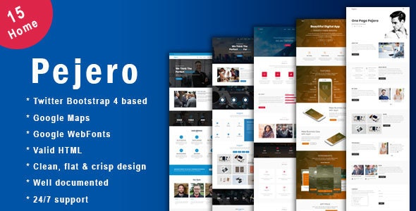 Pajero - One Page Parallax and Business HTML5 Template - Creative Site Templates